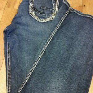 Womens Silver Jeans Suki Slim Boot Size 30/33